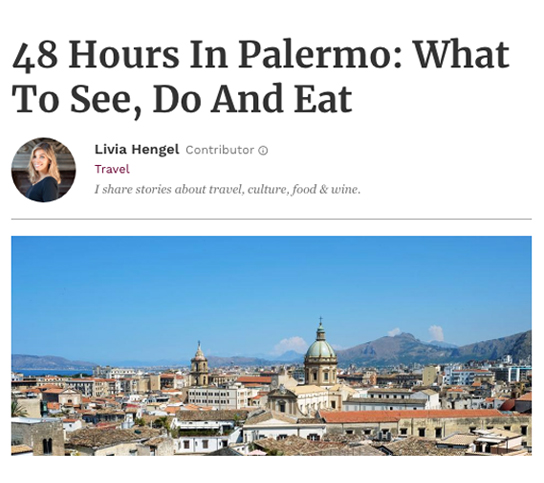 Forbes - 48 Hours In Palermo: What To See, Do And Eat